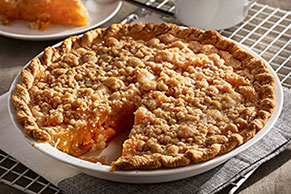 Apricot Crumble Pie