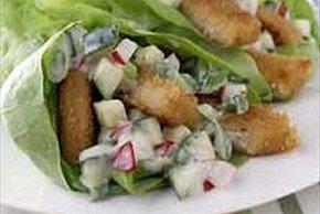 Caesar Chik'n Lettuce Wraps
