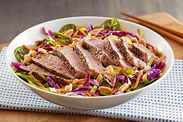 Asian Sesame Salad with Seared Tuna Image 1