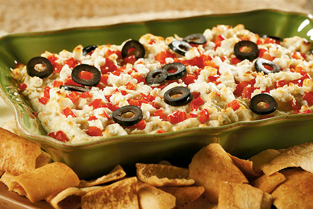 Layered Hot Artichoke and Feta Dip