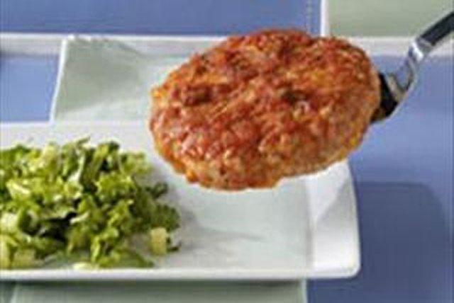 Hamburguesas de pavo con queso y salsa Image 1