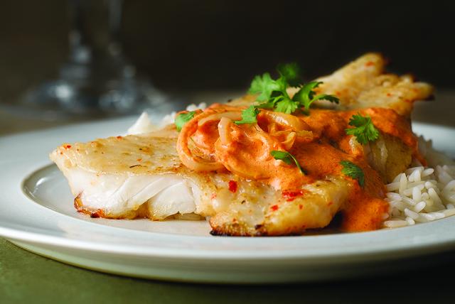 fish in roasted red pepper sauce kraft recipes