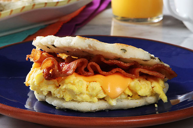 Bacon & Egg Arepas Image 1