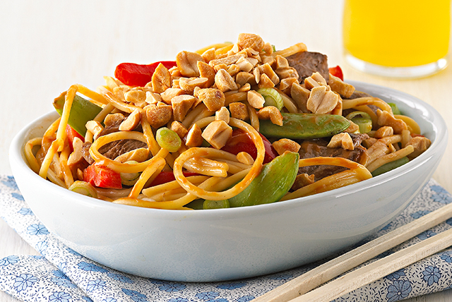 Asian Peanut Beef & Noodles