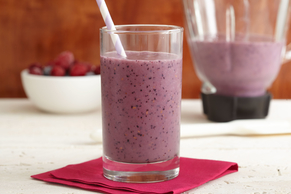 Berry-Banana Fruit Smoothie