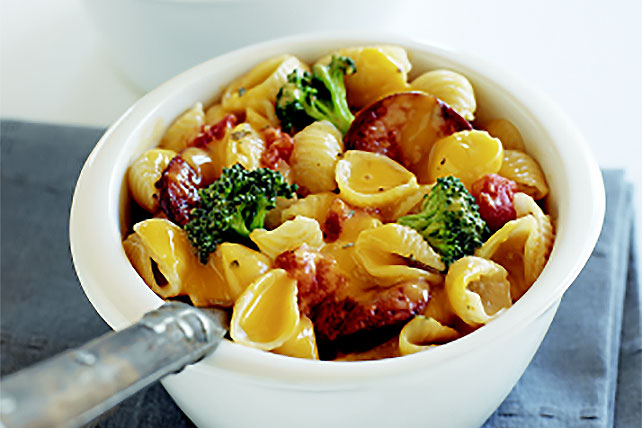 Italian Sausage Shells & Cheese