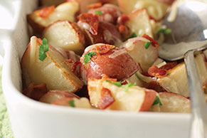 Red Potatoes with Bacon & Cheese