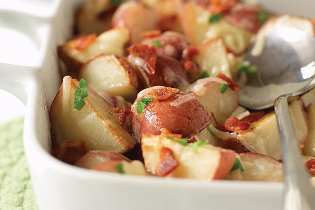 Red Potatoes with Bacon and Cheese