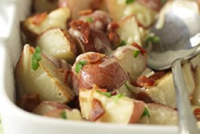 Cheesy Baked Red Potatoes with Bacon
