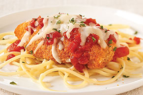 Simple Chicken Parmesan with Spaghetti