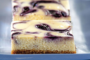 PHILLY Blueberry Swirl Cheesecake
