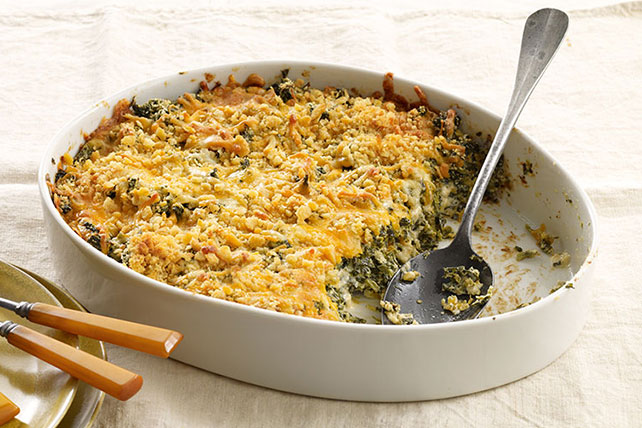 Crispy-Topped Creamy Spinach