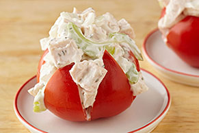 Herbed Chicken Salad Stuffed Tomato