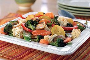 Sauté de légumes frais