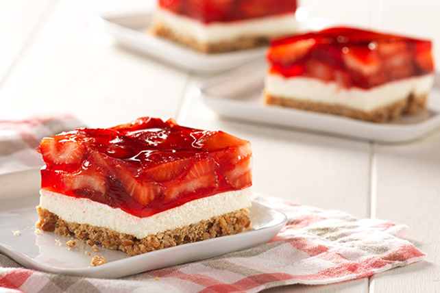 Strawberry Pretzel Squares Image 1