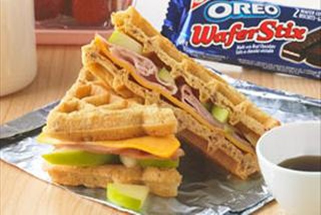 Sandwich-gaufre aux pommes Image 1