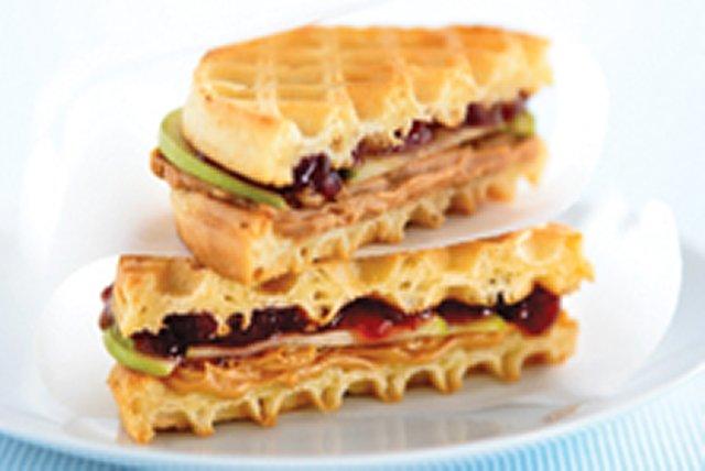 Gaufre-sandwich au beurre d'arachide Image 1
