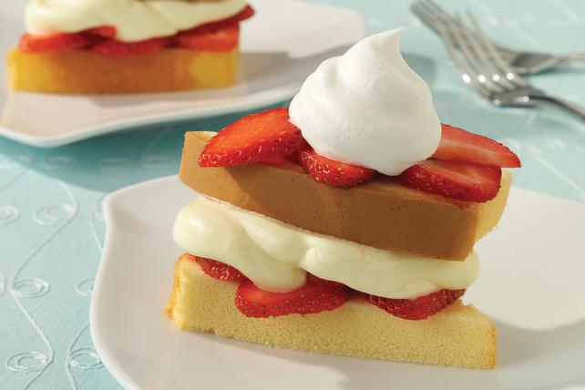 Gâteau sablé éclair aux fraises et à la vanille Image 1