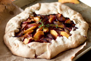 Rustic Fall Fruit Tart