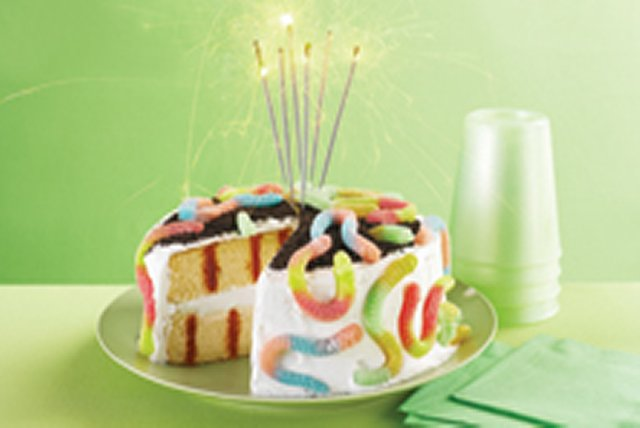 Survivor Birthday Party Poke Cake Image 1