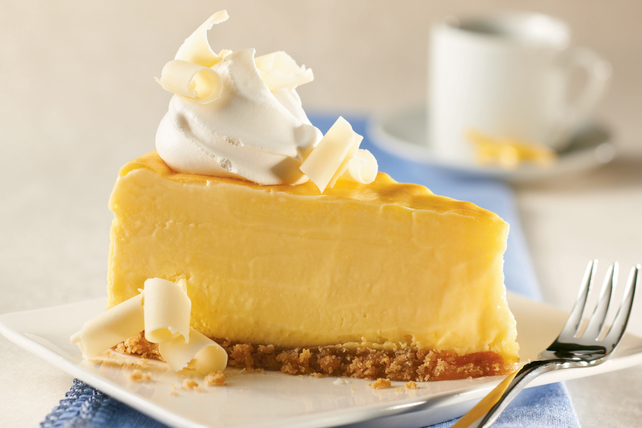 Creamy Lemon Pudding Cheesecake Image 1