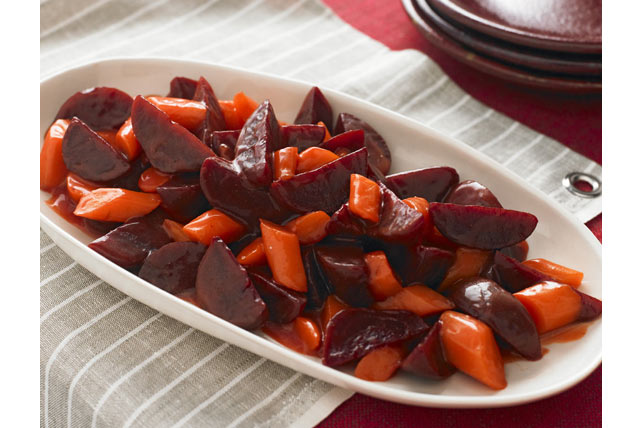 Easy Roasted Beets and Carrots