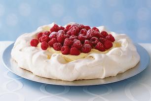 Creamy Vanilla-Raspberry Pavlova