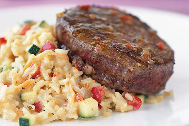"Beef Tenderloin with Creamy ""Risotto"" Image 1"