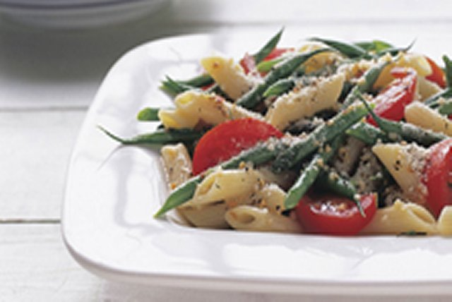 Fresh Green Bean Pasta Salad Image 1