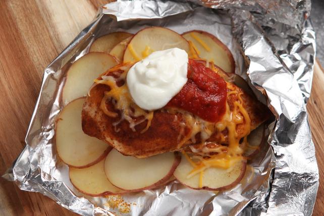 Tacos de poulet en papillote pour le souper Image 1