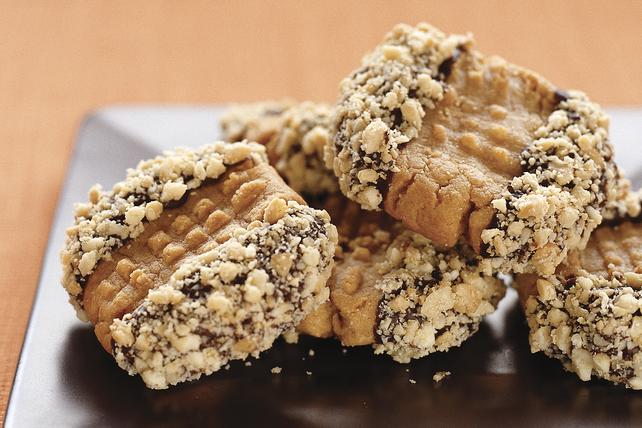 Biscuits éclair au beurre d'arachide trempés dans le chocolat Image 1
