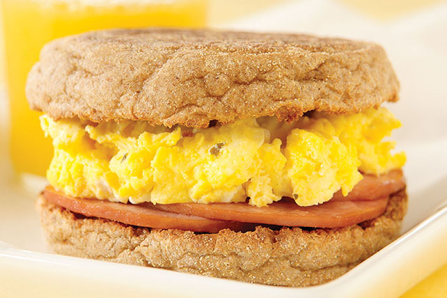 Canadian Bacon & Egg Sandwich