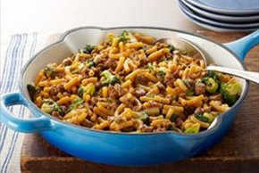 15-Minute Chili-Cheeseburger Skillet