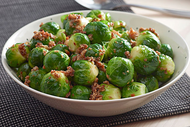 Brussels Sprouts with Bacon and Sun Dried Tomato Dressing Image 1