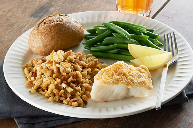Easy parmesan crusted fish dinner kraft recipes for Easy fish recipes for dinner