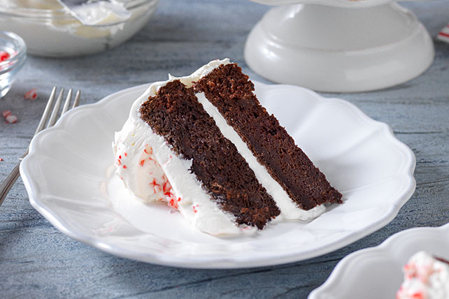Chocolate-Candy Cane Cake Image 1