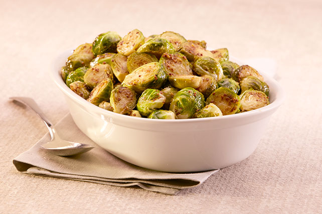 Maple and GREY POUPON-Glazed Brussels Sprouts
