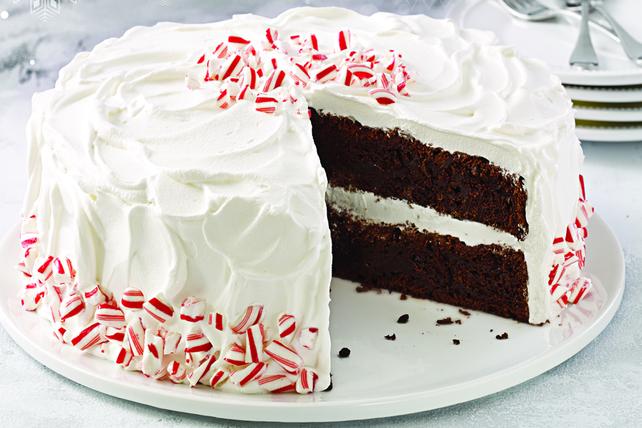 Gâteau au chocolat et aux cannes de bonbon Image 1