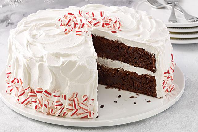 Pastel de chocolate con palillos de menta Image 1