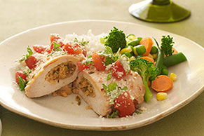 Cilantro-Stuffed Chicken Breasts
