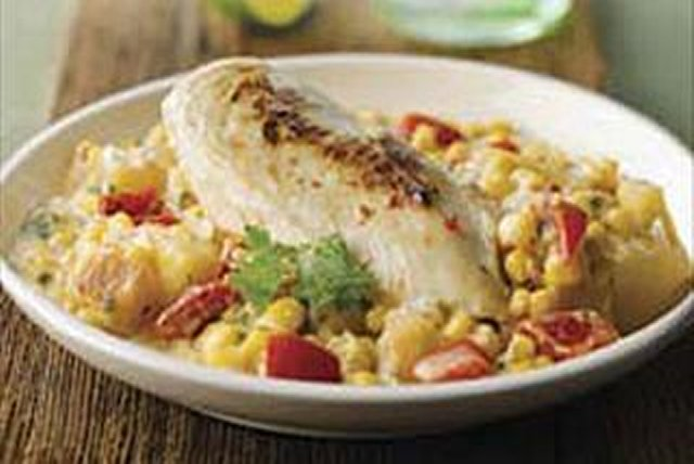 Pollo con maíz y papas a la crema Image 1