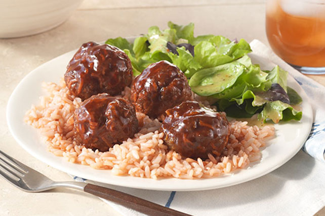 Zesty Meatballs and Rice