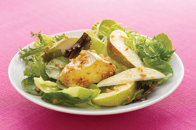Baked Nut-Crusted Camembert & Pear Salad Image 1