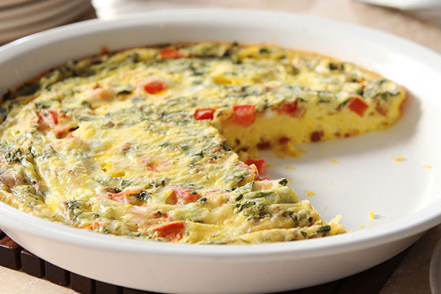 Easy oven frittata recipe kraft recipes - Easy oven dinner ...