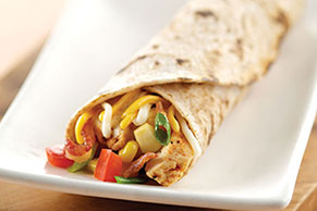 Bacon, Corn, Salsa and Chicken Roll-Up