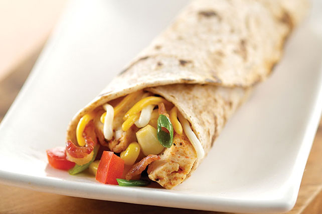 Bacon, Corn, Salsa and Chicken Roll-Up Image 1
