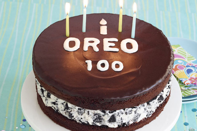Chocolate-Covered OREO Cookie Celebration Cake Image 1