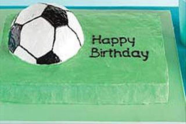 Championship Soccer Ball Cake Image 1