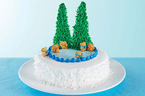 Ice Skating Wonderland Cake