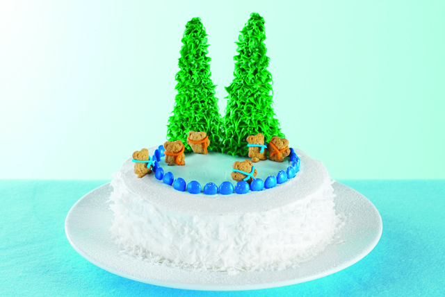Ice Skating Wonderland Cake Image 1